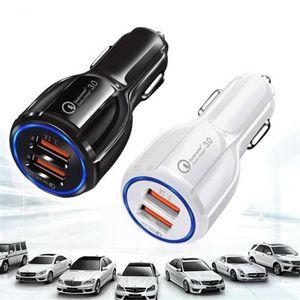 qc3. 0 быстрая зарядка быстрый двойной 3.1 A USB автомобильное зарядное устройство для iPhone для Samsung Galaxy S8 S7 S6 Примечание