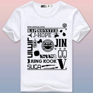 Official t shirt BTS all name short sleeve tops Bangtan Boys tee Colorfast print gown Unisex clothing Pure tshirt