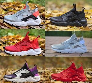 2019 Yeni Üçlü Huarache 4 1.0 IV Ultra Yansıtacak Açık Ayakkabı Mens Womens Deri Erkek ayakkabı Huaraches Spor Eğitmenler Koşu Sneakers 36-46