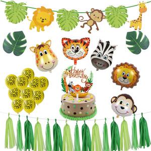 Wild One Animal Theme Jungle Party Animal Baloon Happy Birthday Banner Garland Baby Shower 1st Birthday Safari Party Supplies