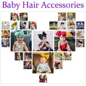 Baby Girls Big Bow Cross Headbands детские банты для волос эластичные головные уборы Hairband Headwrap тюрбан узел детские аксессуары для волос 15 стилей M835F