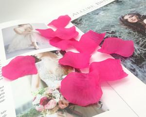 1000 قطع fushia الاصطناعي الحرير روز بتلات زهرة الزفاف الإحسان اكسسوارات حزب الحدث الديكور