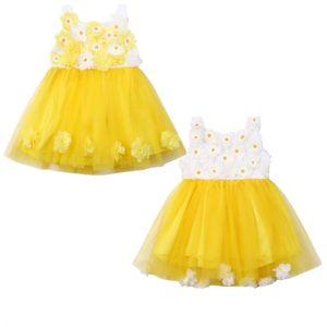 baby dresses girl Kid Baby Flower Girl Party Birthday Dress Wedding Bridesmaid Dresses Princess Sunflower petal Dress
