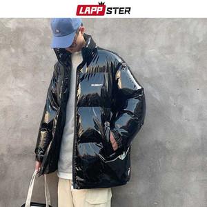 LAPPSTER homens coloridos Grosso Bolha Brasão 2020 Mens Streetwear Hip Hop Jaquetões Coats Masculino soprador Glossy Quente coreana Parka