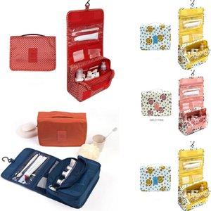 Viaggio Cosmetic Makeup Toiletry Case Wash Organizer Storage Pouch Hanging Bag Kit da viaggio in poliestere
