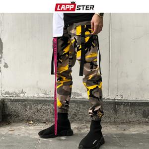 LAPPSTER ankel Comprimento Camo Pants 2019 Macacões Homens Streetwear Hip Hop carga calças de camuflagem Hip Hop Corredores Faixa Laranja