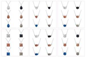 36 스타일 Druzy Drusy Necklace Geometry Resin 모조 다이아몬드 목걸이 크리스마스 선물
