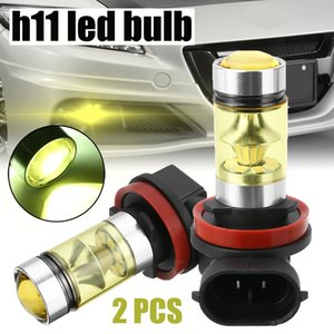 2pcs H11 H8 Led Fog Light Bulbs 9005 Hb3 Hb4 9006 Car Running Lights 3030 Smd Auto Front Driving Lamp 12v 24v 6000k White Yellow