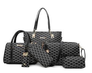 Rosa Sugao 5 cores treliça 6pcs / set moda bolsa Lashes tote bag bag set mulheres messenger ombro corpo cruz
