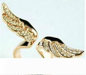 Rings Latest Fashion Close Imitation Female Models Jewelry Factory Direct Gold Angel Wings Full Of Luxury Diamond Rings
