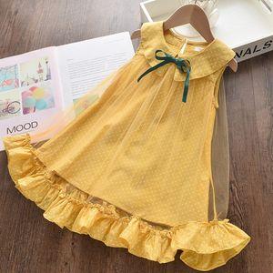 2020 girls clothes girls summer dress Toddler Child Baby Girls' Gauze Ruffle Dot Printing Sleeveless Princess Dress vestido de verano