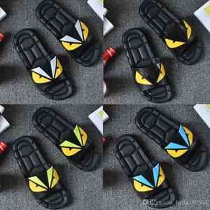 Diseñador del monstruo de ojos zapatillas para hombre Marca Desinger Diapositivas chanclas de verano la moda de Nueva marea cada chanclas sandalias del deslizador
