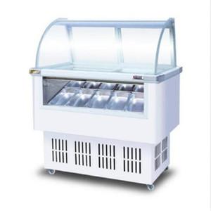 Ticari 8 varil / 12 kutuları sert Dondurucu buzdolabı Gelato ekran kabine dondurma vitrin vitrin Popsicle dondurucu