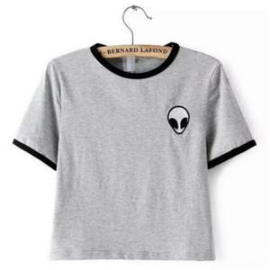 ZSIIBO 캐주얼 외국인 인쇄 줄무늬 반소매 T 셔츠 여성 39160192312593 ZSIIBO 캐주얼 외국인 인쇄 줄무늬 반소매 T 셔츠 철