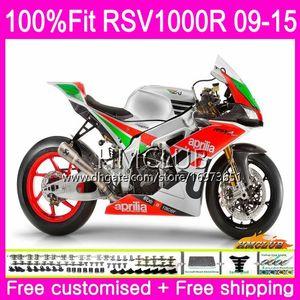 Injection For Aprilia RSV4 RSV1000RR Mille RSV1000 10 11 12 13 14 15 39HM.7 RSV 1000 RSV1000R 2010 2011 2012 2013 2015 Fairing Silvery Red