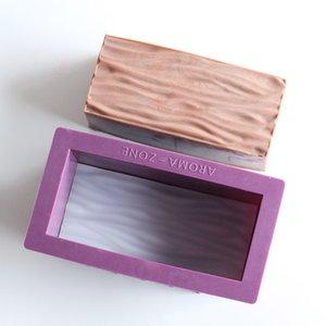 Soap Silicone Nicole Mold Mold Handmade Retângulo Pão com Embossed Mat Flower 3 Padrões são opcionais