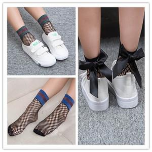 Fashion girls socks bows girls mesh stockings princess kids socks ankle socks girls silk stockings kids designer clothes A6364
