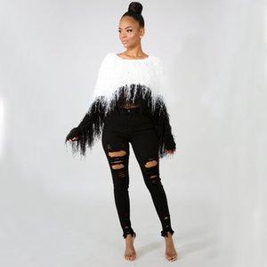 Women's Sweaters Knitwear Short Female Mink hair Pullovers Tops Vestido De Mujer Autumn Knit Sweater Blouse 2020Women's Clothing