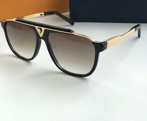 Lunettes de soleil Mascotte classique Vintage Gold Noir Brown Gradient Lentilles Lunettes de soleil Mens Sunglasses Sunglasses pour Hommes Nouveau avec Boîte