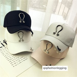 High quality U-shaped iron ring letter pendant personalized hip-hop baseball cap men and women couple curved eaves duck tongue hat
