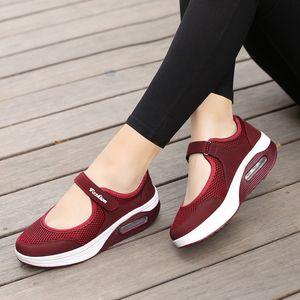Mujer de moda de los holgazanes JAYCOSIN causal tamaño fresco femenino de los zapatos corrientes de las señoras HookLoop Plataforma SpringAutumn Pisos