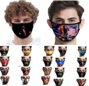 Ice Silk Gesichtsmasken Trump amerikanische Wahl Supplies Staubdichtes Druckmaske Universelles für Männer und Frauen-Flagge Maske XHH9-3045