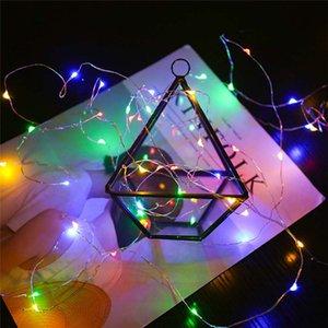 8 Modus 5M 50LED warmweiß Kupferdraht Lampe Musik mit Fernbedienung RGB Urlaub Lichterkette Landschaft Dekoration Beleuchtung