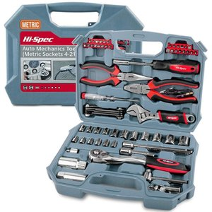 Hi-Spec 67pc Hand Tool Set Metric Car Auto Repair Automotive Mechanics Tool Kit Home Garage Socket Shack Tools in Tool Case T200322