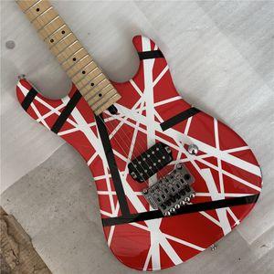 Свободная перевозка груз гитара высокого качества электрической, гитара качества Eddie Van Halen Лучшей в возрасте реликвии й, модернизированное металлические изделия качества,
