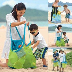 Falten Baby Kind Strand Mesh Badespielzeug Aufbewahrungstasche Tote Large Net Taschen Outdoor Hanging Big Volume