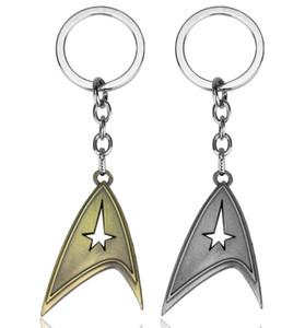 H395 60pc / lot DHL 9kinds Star Trek Schlüsselanhänger Bronze Starfleet Keychain Famouse Film Handtasche Auto Anhänger klassische Legierung Schlüsselanhänger