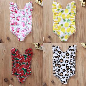 Baby-Badebekleidung Kind-Mädchen-Wassermelone Ananas Printed Swiming Anzüge Sommer einteilige Strand-Schwimmen-Abnutzung 1-4Y