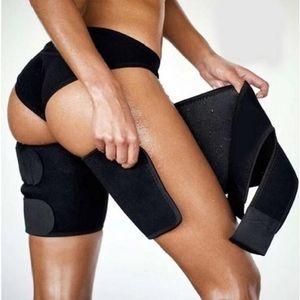 Modelador de pernas Emagrecimento Sauna Sweat Trimmers Warmer Slender Slimming Wraps Legs Thermo Neoprene Compress Belt shaper calcinha