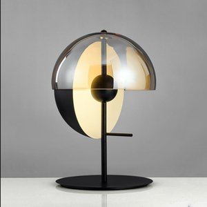 Nordic post-modern  wrought iron villa bedroom bedside table study creative round table lamp AC 90-265V