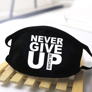 Never Give Up Mouth-Muffle Mask Men Black Causal Outwear Windproof Anti-Dust Masks Women Washable Masque De Protection 2020 lfJLr