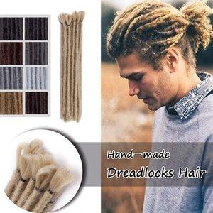 Vente chaude! 30Stands / Lot Pleine Tête 12inch Mode Main Dreadlocks Crochet Tresses Hip-Hop Style Doux Dreadlock Extensions Pour Hommes
