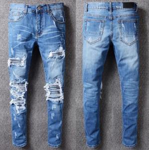 pantalons de la marque de jeans Amiri concepteur pantalon de mode nouvelle hommes boutique de qualité jeans chaud Jean extensible