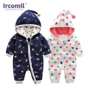 Ircomll Top qualité Nouveaux Vêtements de bébé à capuche en coton barboteuses 2020 Printemps chanceux enfant Costume