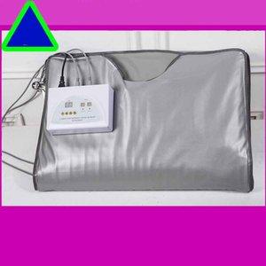 건강 기기 모델 2 구역 FIR 적외선 바디 슬리밍 사우나 난방 슬림 백 SPA WEIGHT LOSS Body Detox Device 무료 배송