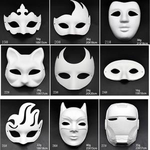 Maquiagem Dança Branco Máscaras Embryo Mold DIY Pintura Máscaras Máscara Handmade partido Festival Halloween animal polpa branca de papel da face Máscara DBC BH2912