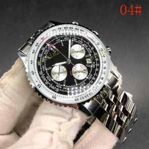 19 Цвета Высотный полет Watches.stainless стали 2813 Автоматические. Navitimer Новые Топ Черный Качество циферблатом Синий кожаный 2019 Часы Mmen в