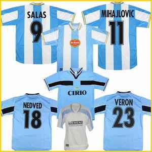 1998 2000 Lazio Европейский Дом ретро футбол Джерси 1999 SALAS Mihajlović VERON Станкович MANCINI NESTA Недвед Индзаги марочные футбол рубашка