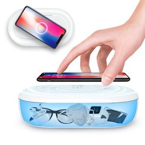 Портативный UVC дезинфицирующее, Многофункциональный UV Light Стерилизатор Phone уборщик Box с Арома диффузор, быстрая зарядка УФ стерилизующего Box