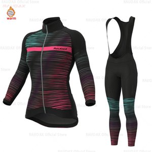 Winter warm fleece cycling jersey 2020 spring warm ladies long sleeve mountain bike maglia invernale ciclismo bike uniform