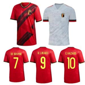 2020 Belgium Soccer Jersey #10 E.HAZARD #7 DE BRUYNE Soccer Uniform Mens Belgique #9 R. LUKAKU KOMPANY FELLAINI Football Shirt