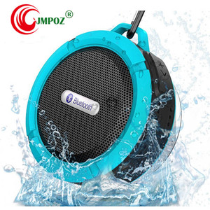 C6 Speaker Bluetooth Speaker Wireless Potable Audio Player Waterproof Speaker Hook Suction Cup Stereo Music Player With Retail Pack