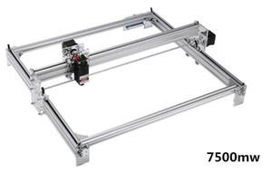 50 * 65cm Mini 7500mw Blue CNC Lasergraviermaschine 2AXIS DC 12V DIY Graveur Desktop Wood Router / Cutter / Drucker + Laserbrillen