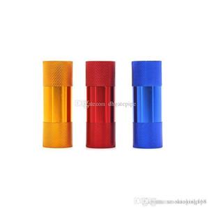 Pollen Presse Petit Aluminium Compresseur sec Herb Pipe Métal Tabac Presser Spice couleur pour meuleuse Fumer Presser
