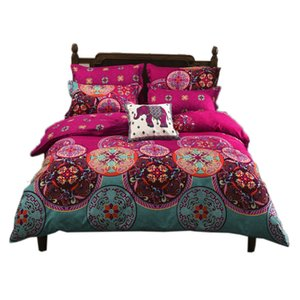 Mandala Duvet Quilt Cover Set Single Double Queen King Size Bed Oriental