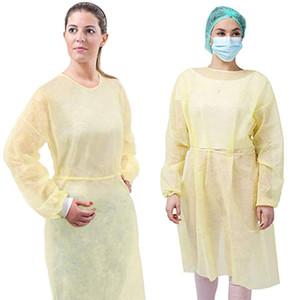 50pcs Schutzkittel Einweg-Schutz Isolation Kleidung Staubdichtes Overall für Frauen Männer Anti-Fog Anti-Teilchen Isolation Anzug